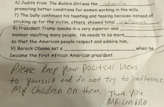Anti-Trump Homework