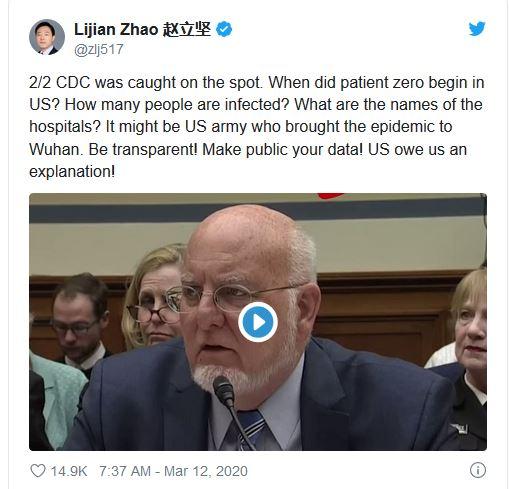 Zhao Tweet